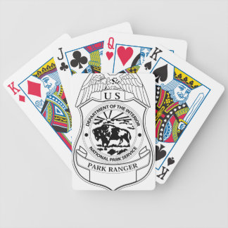 National Park Service Ranger Badge Bicycle Playing Cards