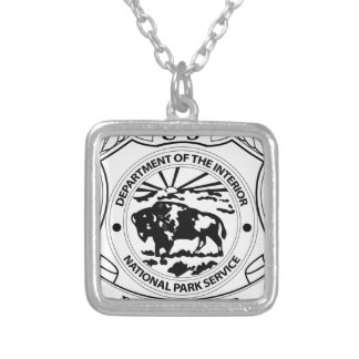 National Park Service Ranger Badge Silver Plated Necklace