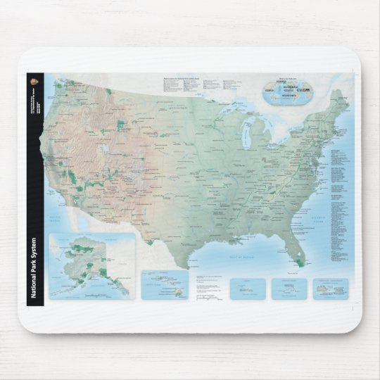 National Park Service System Map Mouse Pad