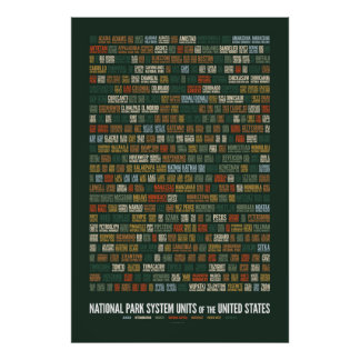 National Park System Units of the US (408) Poster