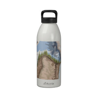 National Park Waterfall Water Bottle