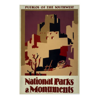 National Parks and Monuments Vintage Travel Poster