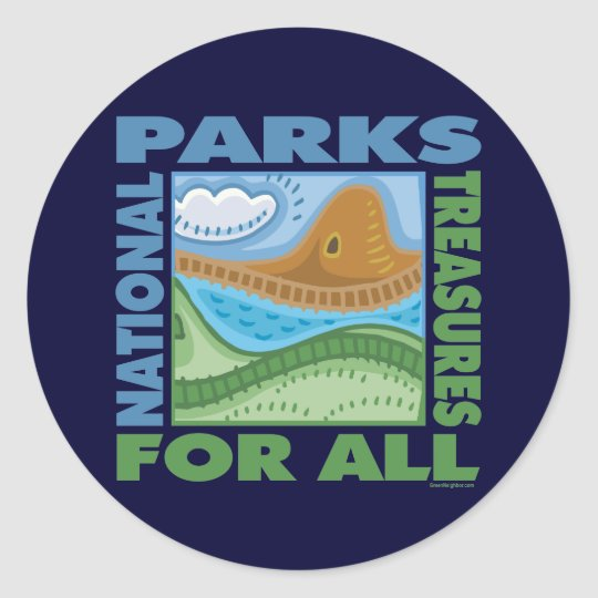 National Parks Classic Round Sticker