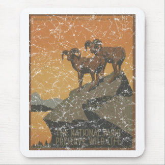 National Parks - Mt. Goats - distressed Mouse Pad