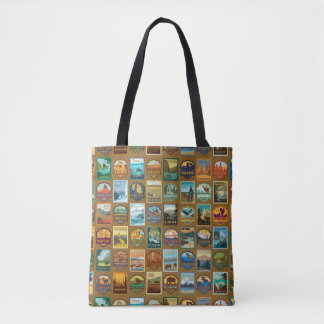 National Parks Pattern Tote Bag