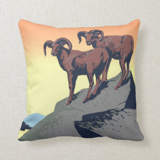 National Parks Poster 1939 Throw Pillow