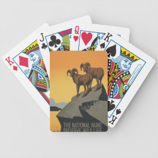 National Parks - Preserve Wild Life Bicycle Playing Cards