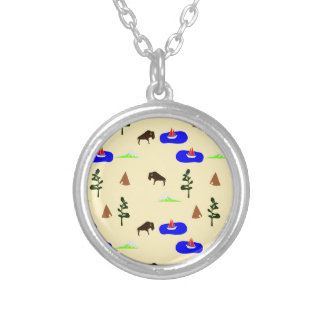 national parks round pendant necklace