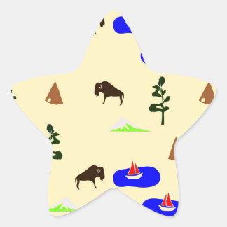 national parks star sticker