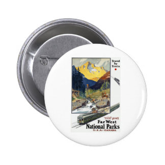 National Parks Travel by Train Pin