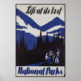 National Parks Vintage Travel Poster Ad Retro