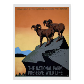 National parks WPA travel Poster