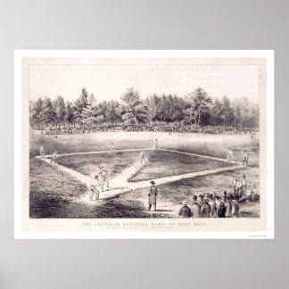 National Pastime Baseball 1866 Print
