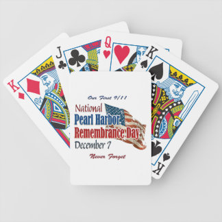 National Pearl Harbor Day Bicycle Playing Cards
