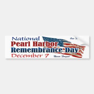 National Pearl Harbor Day Bumper Sticker