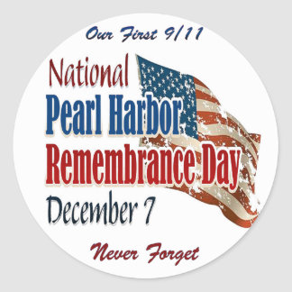 National Pearl Harbor Day Classic Round Sticker