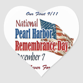 National Pearl Harbor Day Heart Sticker