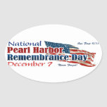National Pearl Harbor Day Oval Sticker
