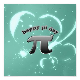 National Pi Day Pi Symbol for Math Nerds March 14 Card