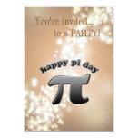 "National Pi Day Pi Symbol for Math Nerds March 14 5"" X 7"" Invitation Card"