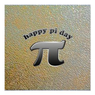 National Pi Day Pi Symbol for Math Nerds March 14 5.25x5.25 Square Paper Invitation Card