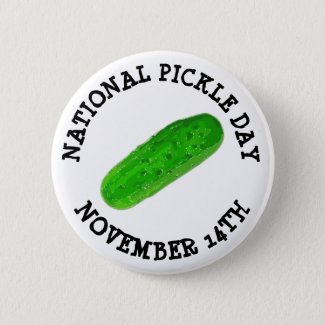 National Pickle Day November 14th Food Holidays Button