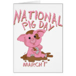 National pig day greeting card