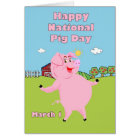 National Pig Day March 1st Card