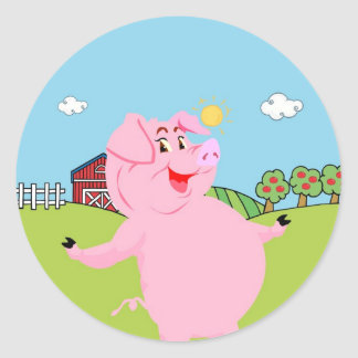 National Pig Day March 1st Classic Round Sticker