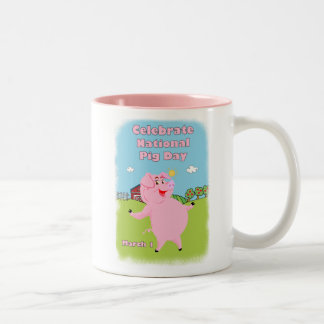 National Pig Day March 1st Two-Tone Coffee Mug