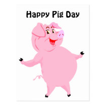 National Pig Day March 1st Postcard