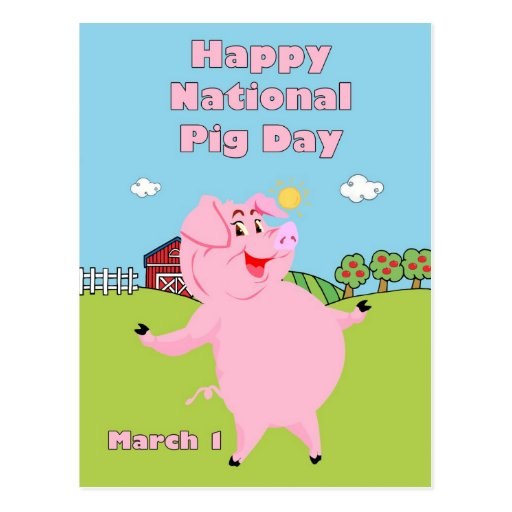National Pig Day March 1st Post Cards