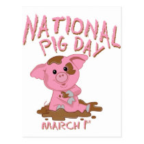 National pig day postcard