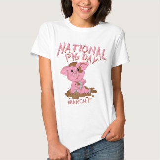 National pig day t shirts