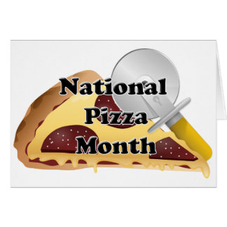National Pizza Month Card