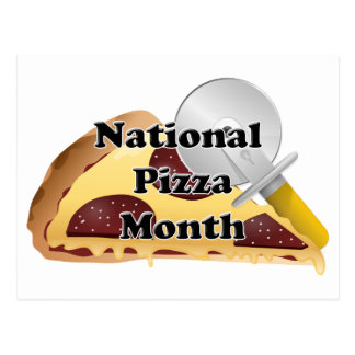 National Pizza Month Postcard