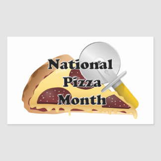 National Pizza Month Rectangular Sticker