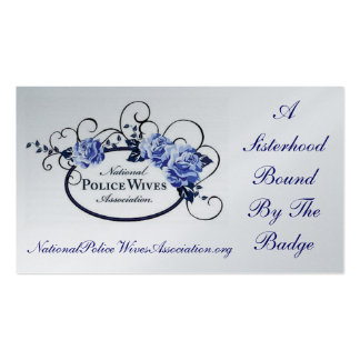 National Police Wives Association Referral Card Double-Sided Standard Business Cards (Pack Of 100)