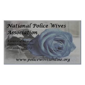 National Police Wives Association Referral Cards Double-Sided Standard Business Cards (Pack Of 100)