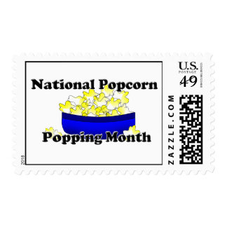National Popcorn Popping Month Postage