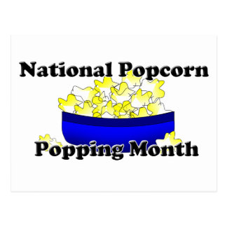 National Popcorn Popping Month Postcard