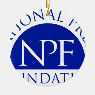 National Press Foundation Gift Package Ceramic Ornament