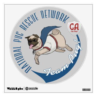 National Pug Rescue Network Logo wall decal