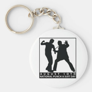 NATIONAL PUNCH A SUIT DAY KEYCHAIN