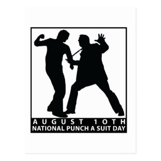 NATIONAL PUNCH A SUIT DAY POSTCARD