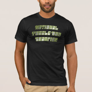 """""""NATIONAL PUZZLE DAY CHAMP"""" VINTAGE HUMOR T SHIRT"""