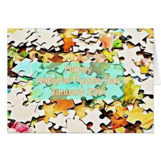 National Puzzle Day January 29th Card