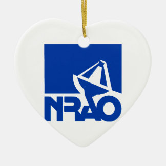 National Radio Astronomy Observatory Double-Sided Heart Ceramic Christmas Ornament