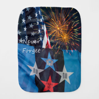 National Remembrance Never Forget Baby Burp Cloth