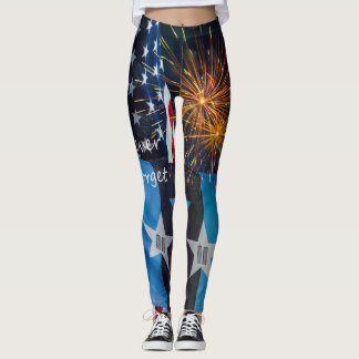 National Remembrance Never Forget Leggings